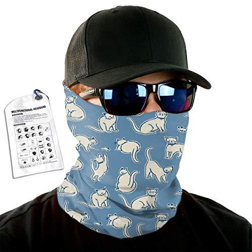 C-Emily Cat Headband for Man Woman, Face Bandana Mask, Head Wrap, Neck Gaiter, Tube Mask and Sweatband