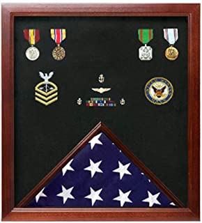 product image for flag connections Military Flag and Medal Display Case.