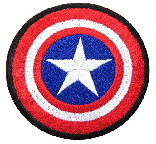 Captain America Superhero Embroidered Iron ON Patch -