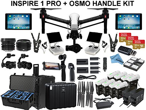 DJI-Inspire-1-PRO-With-eDig-Fly-All-Day-Bundle-Includes-8-TB48-Batteries-2-Charging-Hubs-180W-Charger-2-iPad-Airs-Osmo-Handle-Kit-Go-Professional-Case-3x-64GB-Cards-and-more