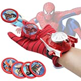 ANG® Spiderman Gloves with Disc Launcher for Real Action - Red