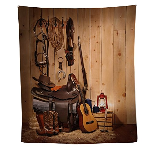 CafePress - Cowboy Gear - Wall Tapestry (Dorm Cowboys Lamp)