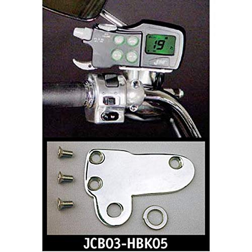 J&M JMCB-2003 JCB03-HBK05 Polished Mounting Brackets for Kawasaki Cruisers