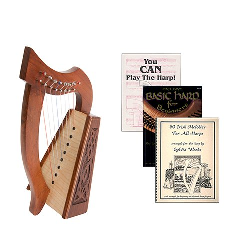 Homeschool Music Lily Harp w/Introduction to Harp Book Bundle + Irish Melodies by Homeschooling Harps