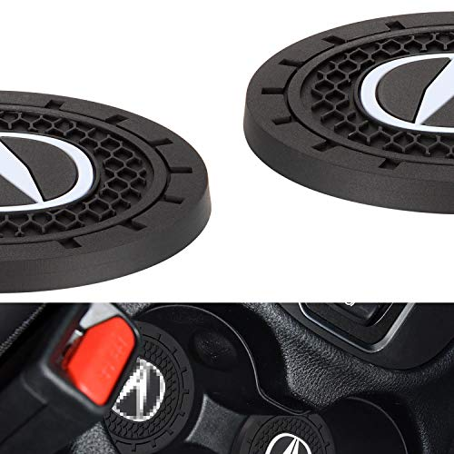 """AOOOOP Car Interior Accessories for Acura Cup Holder Insert Coaster - Silicone Anti Slip Cup Mat for Acura ILX TLX RLX RDX MDX NSX (Set of 2, 2.75"""" Diameter)"""