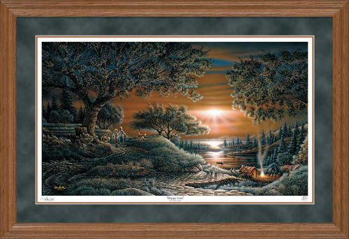 (Puppy Love Framed Limited Edition Print by Terry Redlin)