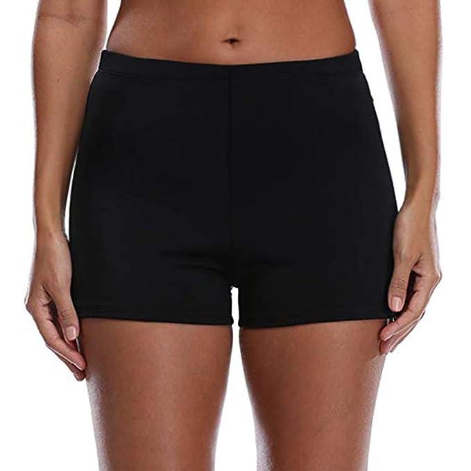 16c7c81b13 Tournesol Women's Swim Shorts Boy Shorts High Waist Boardshorts Beach Bikini  Tankinis Swimwear Bottoms Boy Bottoms