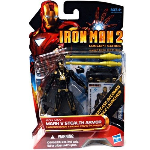 Marvel Iron Man 2 Action Figure #20 Iron Man Mark V Stealth Armor Iron Man 4 Inch (Iron Man 2 Mark V Action Figure)