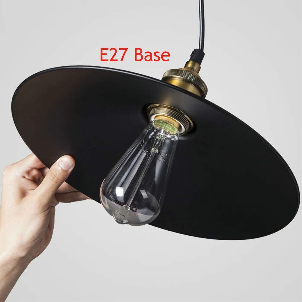 vintage SHENSHUAI Edison Loft L/ámpara colgante retro Land Art Lamp 60.0W 220.00V l/ámpara de techo de hierro pintado estilo industrial con forma de paraguas