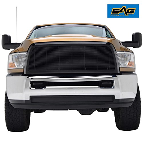 EAG Black Replacement Grille for 10-12 Dodge Ram 2500 3500 - Aluminum Billet Upper Front Grill