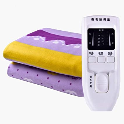 Manta eléctrica de doble control, manta eléctrica calentada, suave con manto inferior con controlador