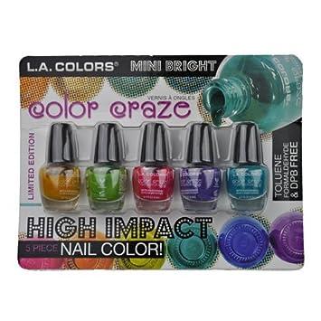 Amazon Com L A Colors Color Craze Mini Bright Nail Polish Cns123