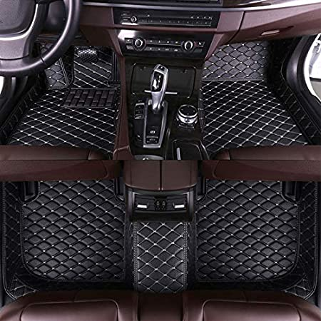 Leather Floor Mats Fit for Audi A4 2010-2014 3D Full Protection Car Accessories Beige 3 Piece Set