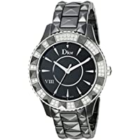 Christian Dior VIII Christal Diamond Black Ceramic Ladies Watch