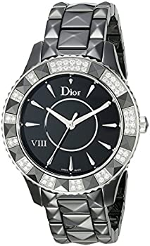 Christian Dior VIII Christal Diamond Black Ceramic Ladies Watch