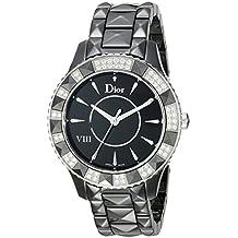Christian Dior Women's CD1241E0C001 Dior VIII Black Face Crystal and Diamond Watch