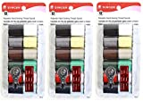 singer inspiration bobbins - Singer Spun Polyester Light and Dark Hand Thread Set, Set of 12, Assorted Colors, 3-Pack