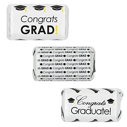 Graduation Party Favor Stickers for Hershey's Miniatures Candy Bars (Set of 54) (Nurse Party Decorations)
