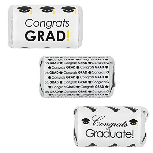 Graduation Party Favor Miniatures Candy Bar Wrapper Stickers (Set of (Graduation Favor Ideas)