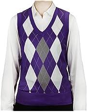 Blue Ocean Ladies Argyle Sweater Vest