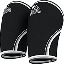 Elbow Sleeves (1 Pair) Support & Compression for Weightlifting, Powerlifting, Cross Training & Tennis-5mm Neoprene Sleeve as the Best Brace-Women & Men - by Nordic Lifting - 1 Year Warranty, Black, M