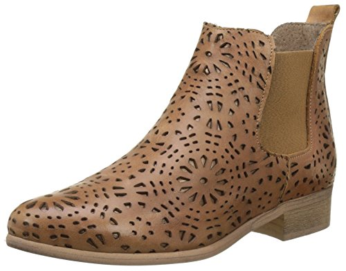 Marron Bunker Tan Brenda Chelsea Bottines Femme wax4TIaq