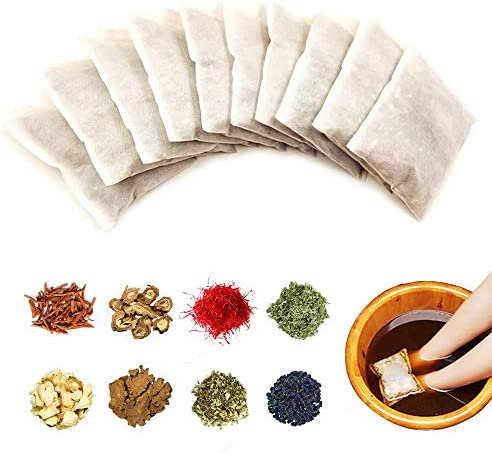 10 Packs Foot Soak Foot Soften Calluses Wellness Relaxation Made of 8 Kinds of Pure Natural Chinese Medicinal Herbs Soaks Foot Care,Eliminate Fatigue Improve Sleeping Foot Pain Foot Care Treatment