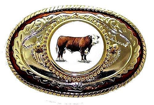 Steer Cow Cattle Bull Bovine Hereford  4h FFA Livestock Domestic Belt Buckle