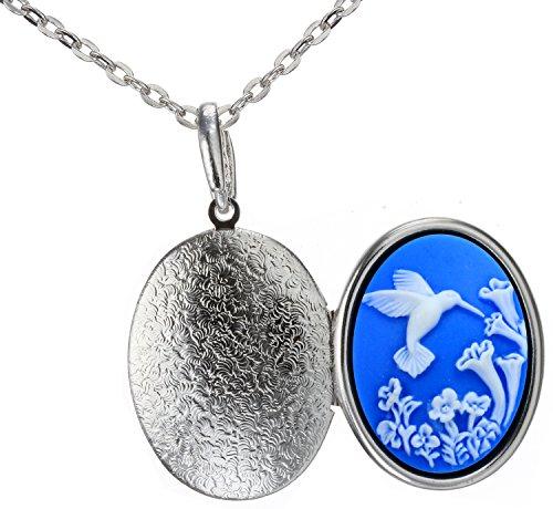 Christmas Gift Hummingbird Locket Necklace Photo Fashion Jewelry 18