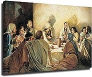 Lienzo impreso de la última cena bautismo santa comunión y sacerdote, cuadro modular para sala de estar, póste