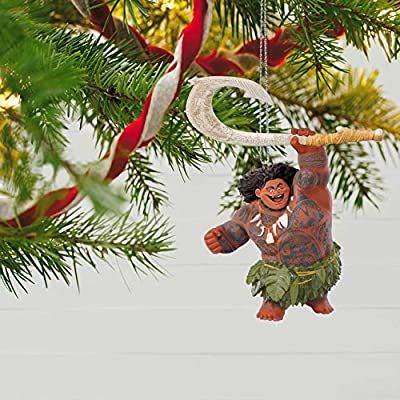 Hallmark Keepsake Christmas Ornament 2018 Year Dated, Disney Moana Maui