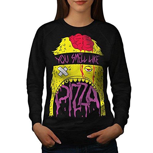 Smell Pizza Zombie Dead Hungry Women NEW L Sweatshirt | Wellcoda (Zombie Pizza)