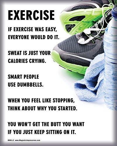 """Unframed Exercise Fitness 8"""" x 10"""" Sport Poster Print"""