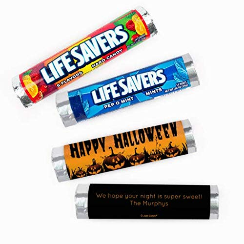 Halloween Candy Personalized Lifesavers 5 Flavor Rolls Party Favors (20 Rolls)