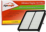 EPAuto GP881 (28113-2P100) Hyundai / KIA Replacement Extra Guard Rigid Panel Engine Air Filter for Azera (2013-2016), Sonata (2011-2014), Santa Fe (2010-2012), Optima (2013-2015), Sorento (2011-2013)