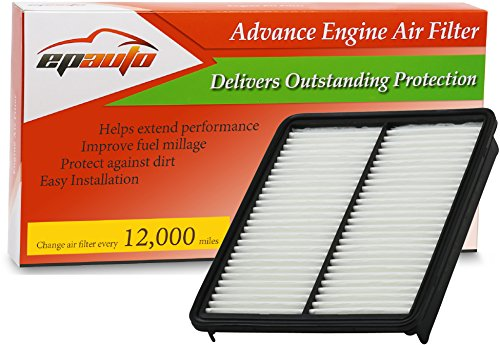 EPAuto GP881 (28113-2P100) Hyundai / KIA Replacement Extra Guard Rigid Panel Engine Air Filter for Azera (2013-2016), Sonata (2011-2014), Santa Fe (2010-2012), Optima (2013-2015), Sorento (2011-2013) - Hyundai Kia