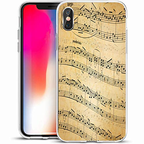 Antique Song Sheet - Ahawoso Custom Phone Case Cover for iPhone X/XS 5.8
