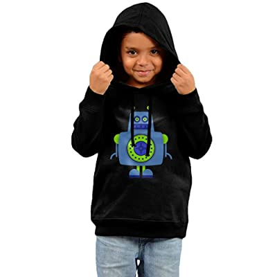 Baby Clothes Hooded Sweatshirt, Cartoon Robot Cotton Infant Hoodie Tops For Boy Girls