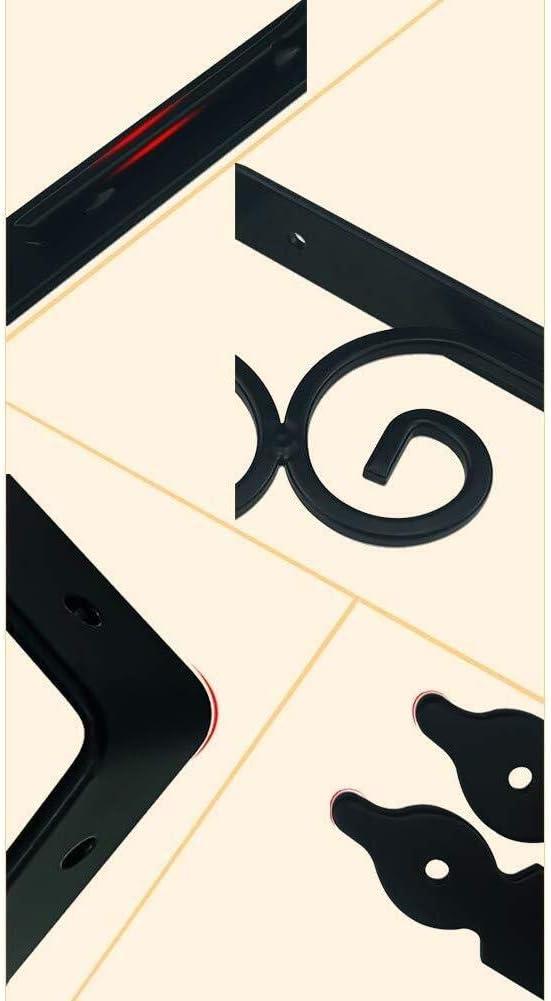 /Équerre murale Fer forg/é multi-fonctions Support de tablette Convient aux cham /étag/ères de mur flottant fer Support tr/épied angle droit support de palettes Support de rangement 2 couleurs 5 tailles