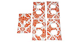 Jojo\'s Boutique Orange Damask Outlet and Light Switch Cover Set