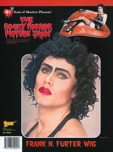 Costumes For Rocky Horror Picture Show (Forum The Rocky Horror Picture Show Frank And Furter Wig, Black, One Size)