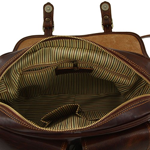 Tuscany bag Marino pockets leather Leather the side San on Black Travel with front F4UZq4wn