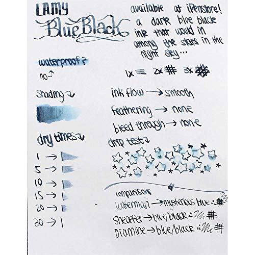 Lamy Refills Blue 50ml Ink with Blotting Paper Bottled Ink (LT52BL) by Lamy (Image #5)