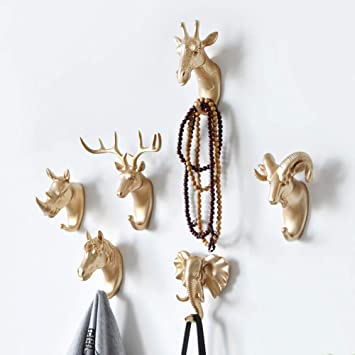 Rhinoceros//Goat//Elephant Shape Wall Mounted Hanging Hooks Clothes Hanger Rack