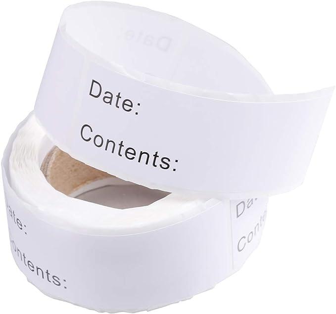 BESTONZON 125pcs / Roll Freezer etiquetas de alimentos, etiquetas ...
