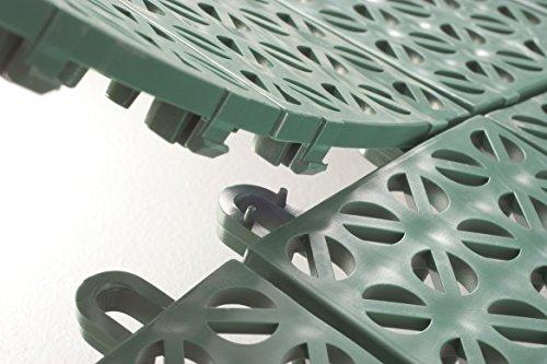 Piastrelle in plastica da giardino usate pavimentazione
