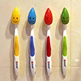 Travel Toothbrush Holder Suction 4X Cartoon Toothbrush Head Case Suction Cup Protective Cover Bathroom Tube Antibacterial