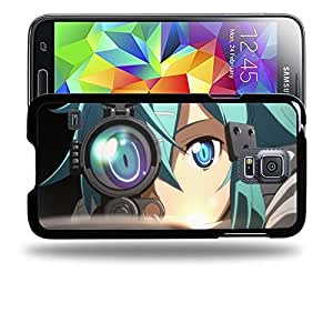 Case88 Designs Sword Art Online SAO Shino Asada Sinon Protective Snap-on Hard Back Case Cover for Samsung Galaxy S5