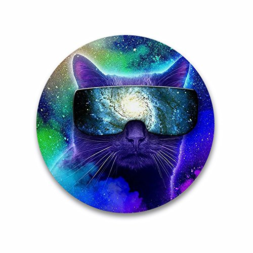 Drinking Beer Bottle Opener Multi-function Refrigerator Magnet - Galaxy Cat With (Coors Light Stained Glass)
