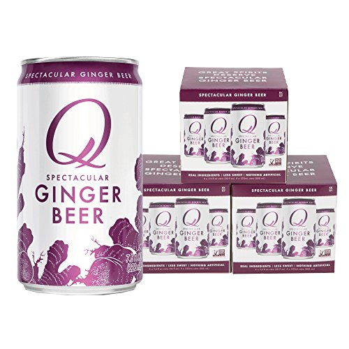 Q Mixers, Q Ginger Beer Spectacular Ginger Beer, Premium Mixer, 7.5 Fl Oz Slim Can (Pack of 12)